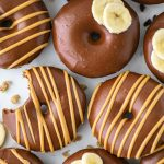 Pancake mix donuts made with bananas and a few other simple ingredients! This is such a fun recipe for a lazy weekend brunch or an easy week day breakfast!