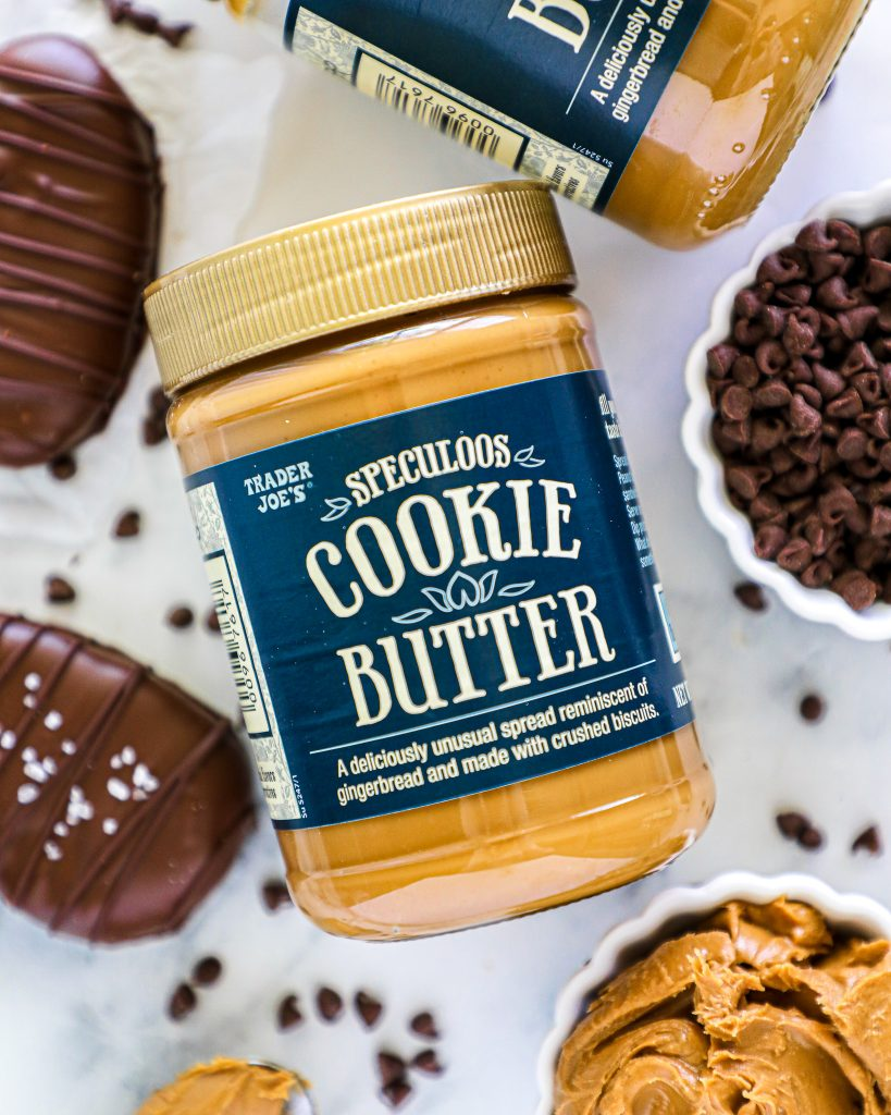 This super easy Easter treat is filled with cookie butter that made from ground up spiced cookies and tastes just like gingerbread. I got my cookie butter at Trader Joe's!