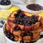 Easy lemon french toast that's only 5 ingredients! It's the perfect breakfast for summer!