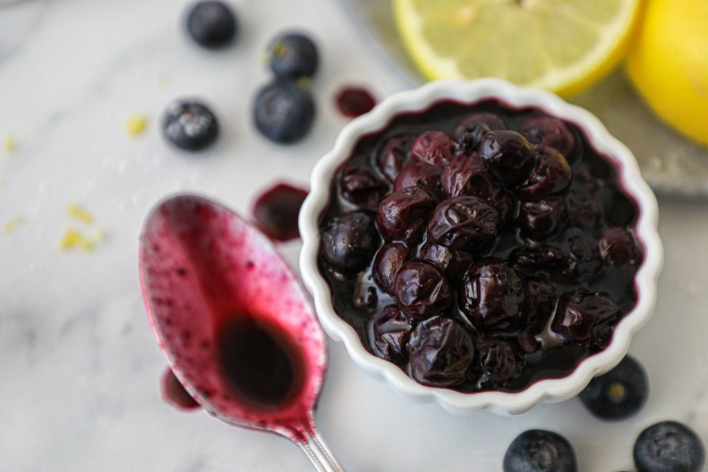 Easy blueberry compote that's made with just 3 ingredients! You can put this on french toast, pancakes, waffles and even your favorite ice cream!