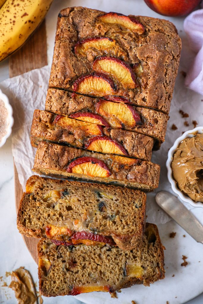Cinnamon peach banana bread is a fun summery twist on classic banana bread! It's so simple and easy to make that it's sure to become a favorite!