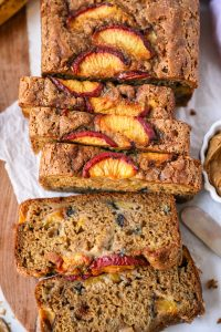 Looking for a fun quick bread to make this summer? Well look no further because this peach banana bread is full of sweetness and made a little healthier for you too!