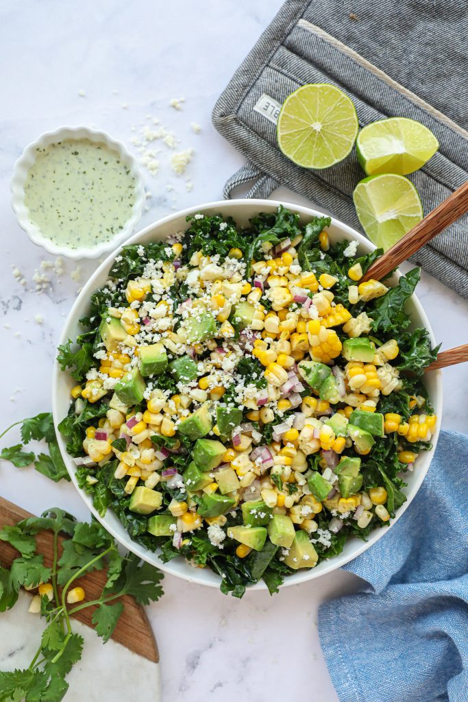 Looking for a fresh and flavorful salad to try? Make this healthy Mexican corn salad! It's only a few ingredients and is always a crowd favorite!
