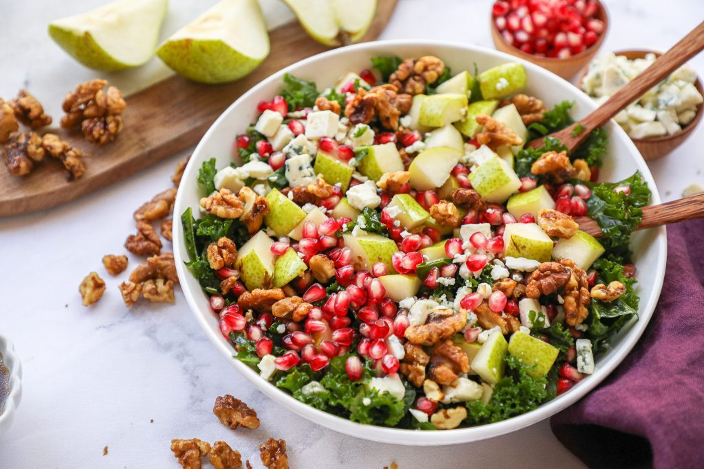 Sweet, tangy and so easy to make too! This delicious fall salad will become your favorite side dish in no time!