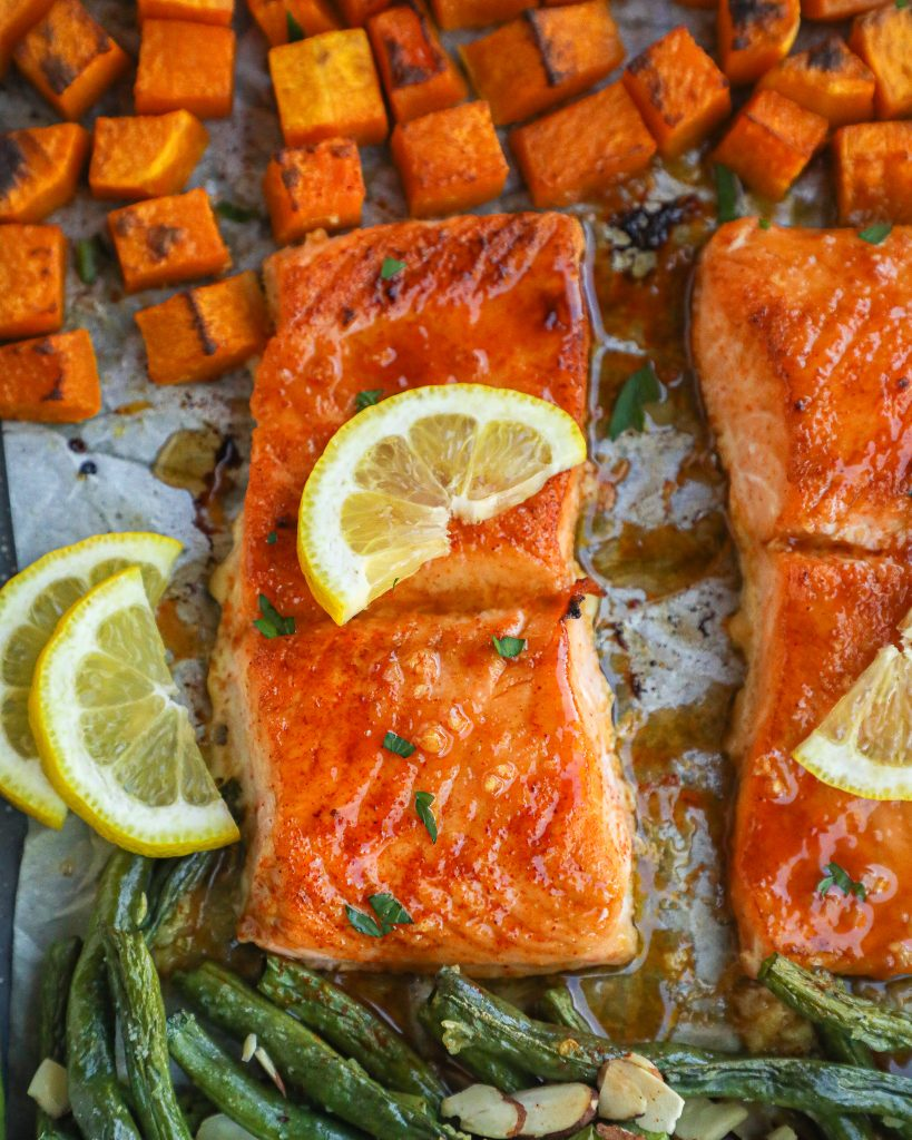 Maple mustard salmon is an easy dinner that's bursting with so much flavor! It takes no time at all to cook and can be paired with so many different sides too!