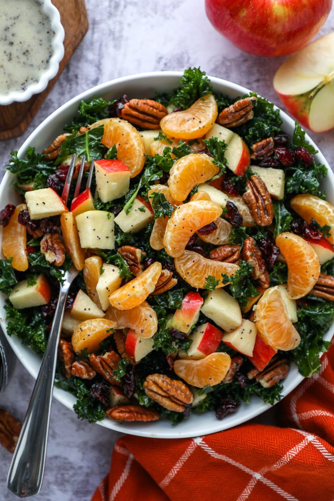This is the kale salad you need to bring to all of your potlucks and parties this year! It's simple, easy to make and tastes incredibly delicious too!