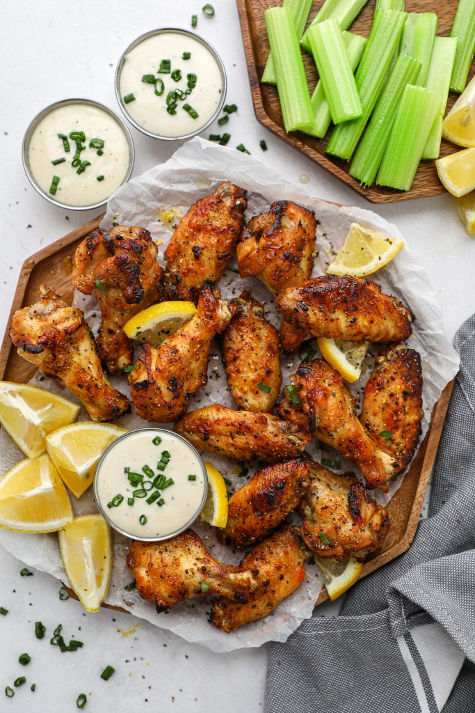 The best lemon chicken wings you will ever make! They're crispy on the outside, tender in the middle and come out perfect every single time!