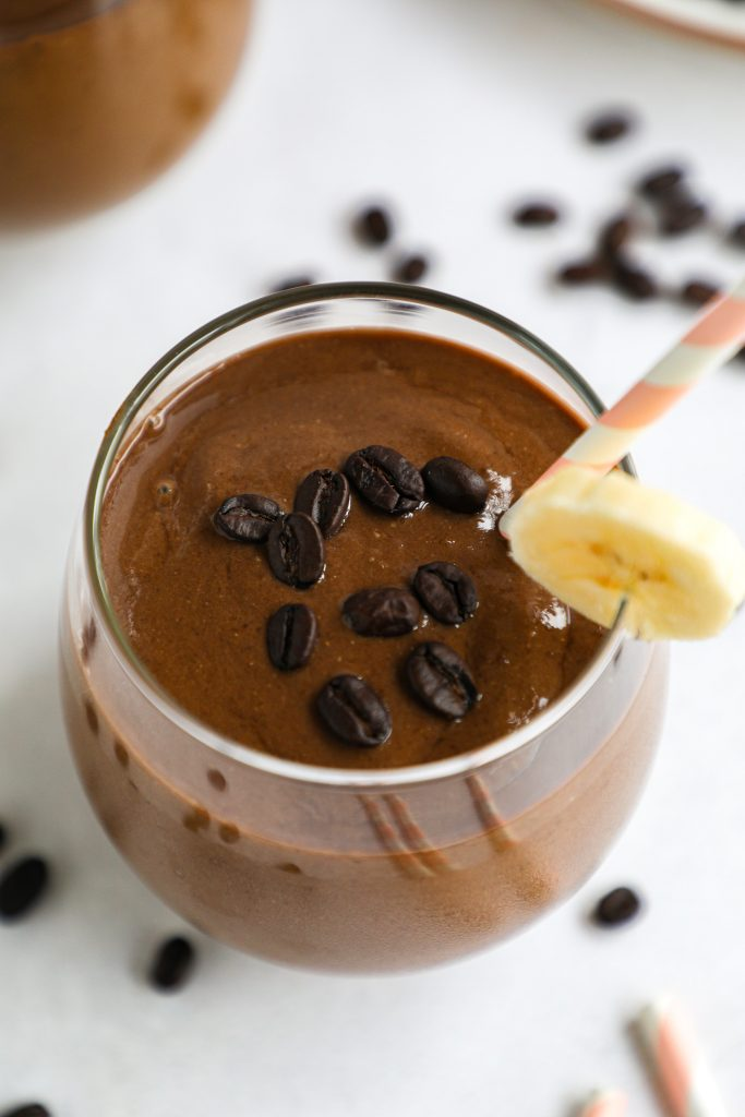 Rich, creamy and full of protein too! This is the only coffee smoothie recipe you will ever need!