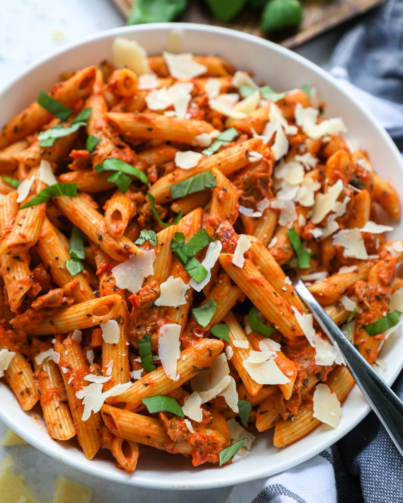 Simple, flavorful and always a huge hit with our guests! This easy penne pasta all vodka is one of our go-to pasta dishes!