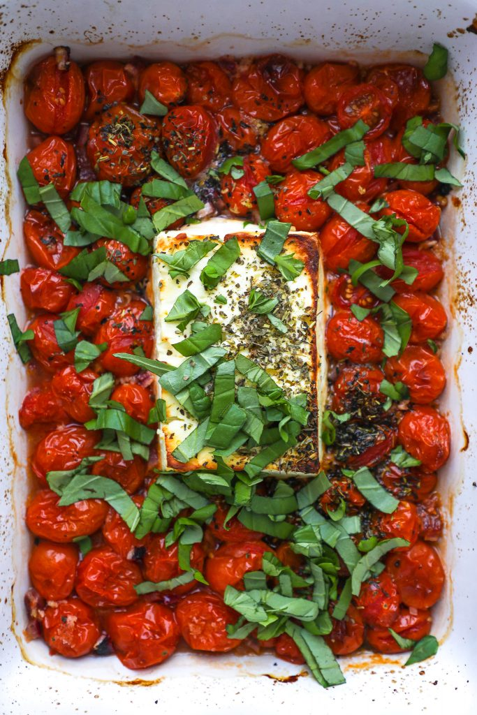 The dish that went viral on TikTok! Baked feta is quick, easy and exploding with fresh Mediterranean flavors too!