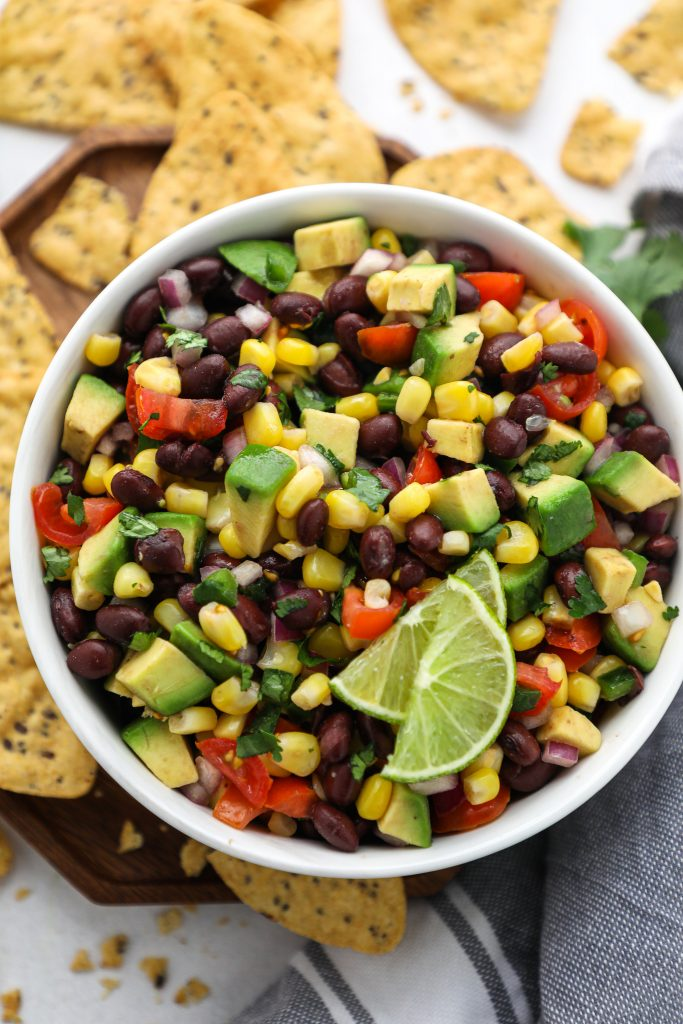 Super flavorful and so easy to make too! This tasty black bean salsa will be a huge hit with all of your guests!