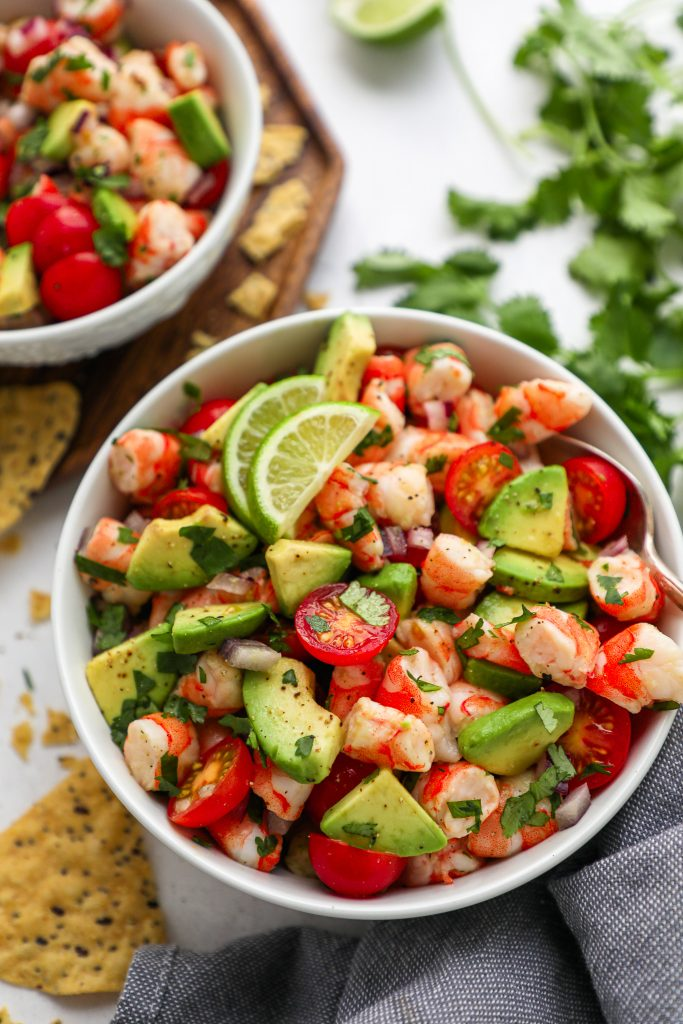 The best and easiest ceviche salad you will ever make! It's tangy, refreshing, and perfect for meal prepping too!
