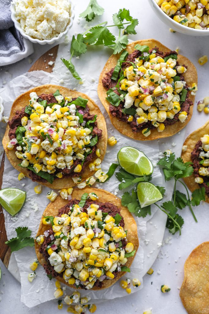 A healthier tostada recipe made with simple ingredients and so much flavor! They're the perfect way to spice up for taco night!