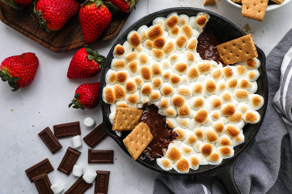 Now you can make s'mores at home! This fun dip is such a great option for kids and is always a family favorite!