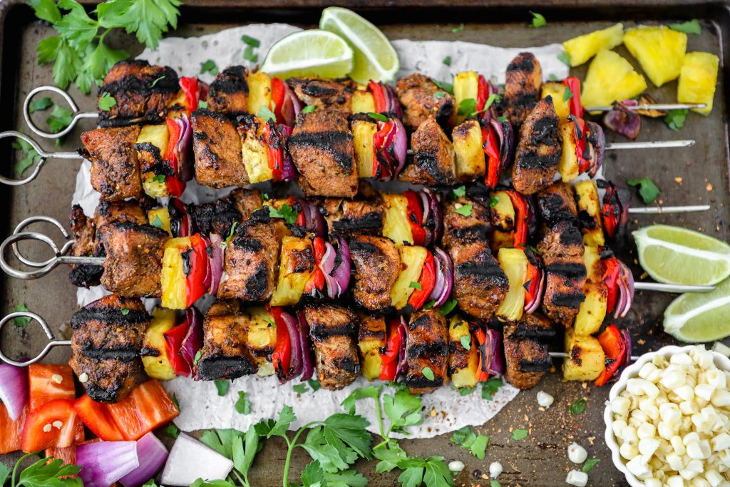 Sweet, spicy and delicious! This recipe shows you how to make grilled jerk chicken skewers at home!