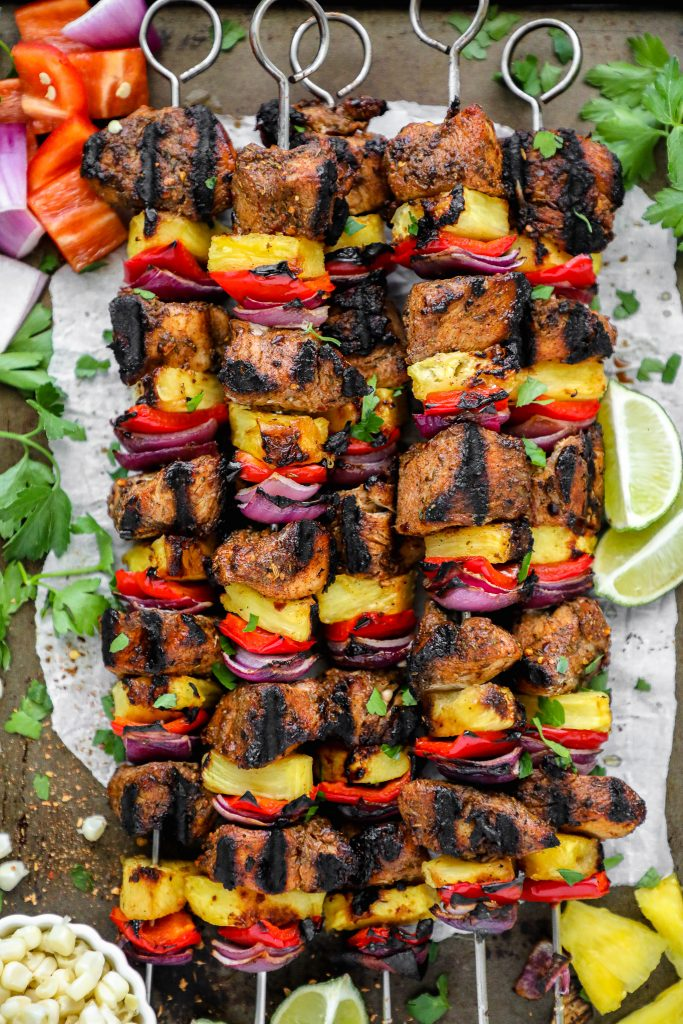 Skewers are the best summer food! Especially when they bring all the flavor of the islands right to your backyard! Just like these chicken skewers do!