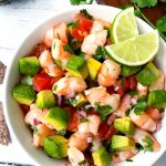 non-raw shrimp ceviche with avocado
