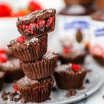 Decadent chocolate hazelnut and raspberry cups made with simple ingredients and are so easy to make! They're the perfect Valentine's Day treat!