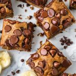 This is the best banana bread brownie recipe you will ever find! It's decadent, rich, loaded with chocolate chips and healthy for you too!