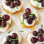 Roasted grape and goat cheese crostini are the perfect appetizer for any occasion! They're fast, easy and always a crowd favorite!