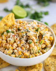 An easy dip recipe made with sweet, salty cotija cheese, sour cream, Mexican spices and fresh cilantro and lime juice! It's always a crow favorite and is perfect for your next party!
