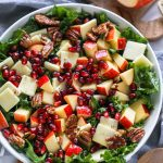 This apple and white cheddar salad is the perfect side dish for any occasion! It's sweet, tangy and has the perfect amount of crunch too!