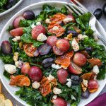 This delicious roasted grape and kale salad is the perfect side dish for winter! It's easy to make and full of so much flavor!