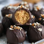 Peanut butter, pretzels and chocoalte - the until snacking trio! These easy truffles have all three and are the perfect treat for all your cookies exchanges this year!
