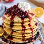Super light and fluffy pancakes made with lemon and ricotta! They're so easy to make and are the perfect weekend breakfast or brunch!